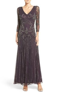 Pisarro Nights Embellished Mesh Drop Waist Dress (Regular & Petite) available at #Nordstrom