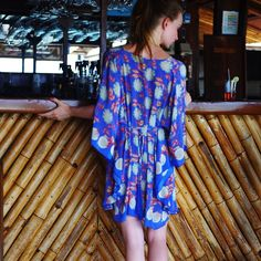 """""""❤️40% off Valentine's Sale pick of the day - a crepe de chine #kaftan in passionfruit print - perfect #beach to bar piece for #mustique ❤️"""""""