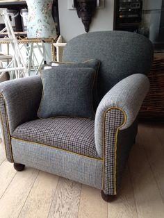 Vintage Harris Tweed 'Cocktail' Armchair by RescuedRetroVintage