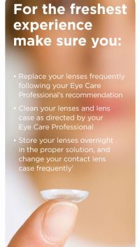 Tips for fresh contact lenses