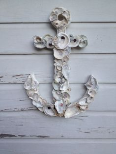 Oyster Shell Anchor/Nautical Wall Anchor/Oyster by MyHoneypickles
