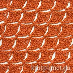 Pretty Crochet Stitch - Free Crochet Diagram - (knitplanet)
