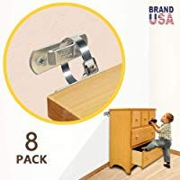 Metal Furniture Straps 8 Sets Dresser Wall Anchors Furniture Anchors For Baby Proofing Child Safety Anti T In 2020 Furniture Anchors Metal Furniture Furniture Straps