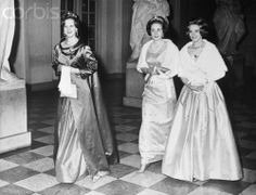 Crown Princess Margrethe of Denmark, Princess Benedikte of Denmark and Princess Anne-Marie of Denmark