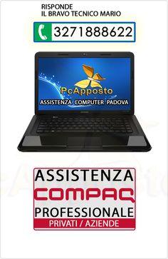 Centro asistenza notebook notebook Compaq per privati ed aziende. Lavoro eseguito a regola d'arte preceduto da preventivo. Il Bravo Tecnico Mario
