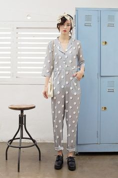 Print Jumpsuit Polka Dot - THE WHITEPEPPER