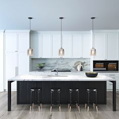 There is no question that designing a new kitchen layout for a large kitchen is much easier than for a small kitchen. A large kitchen provides a designer with adequate space to incorporate many convenient kitchen accessories such as wall ovens, raised. Home Decor Kitchen, Rustic Kitchen, Kitchen Furniture, New Kitchen, Kitchen Ideas, Awesome Kitchen, Kitchen Hacks, Wood Furniture, Eclectic Kitchen