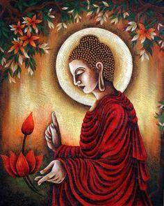Buddha Canvas, Buddha Wall Art, Buddha Wall Painting, Buddha Artwork, Canvas Art For Sale, Canvas Wall Art, Canvas Paintings, Small Canvas, Mini Canvas