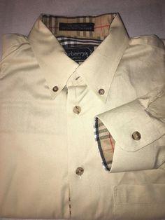 Burberrys Nova Check Lining Cuff Cream Dress Shirt Sz Men's Small | eBay