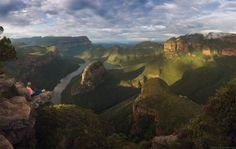 a stunning view on blyde river canyon, south africa photo