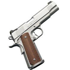 "Kimber Gold Combat II Stainless .45 ACP Pistol, Magwell, 5"" Barrel, Ambi Safety, Micarta Grips, Cocking Shoulder Night Sights, Stainless Finish - CUSTOM SHOP GUN"