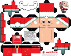 Blog Paper Toy papertoys CCS Pere Noel template preview The Christmas Clones by Cubeecraft (x 5)