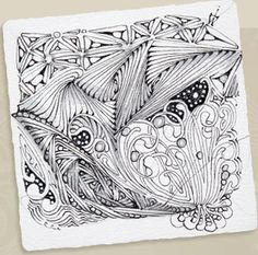 "I'm just discovering Zentangle (Zentangling?). The website says it increases focus and creativity - that it facilitates a shift in focus and perspective – and provides an increased sense of well being. Also, that it can be taught. It sounds like something I should learn.    I love what the website says: ""Your creation is not restricted by your expectations."""