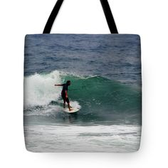 "Storm Surfing Tote Bag 18"" x 18"""