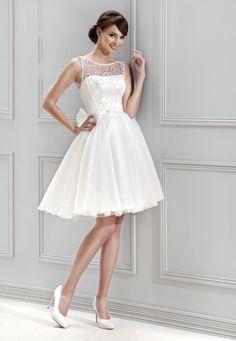 7ea629ea2729 krátké svatební šaty Agnes 11843 Classy Wedding Dress