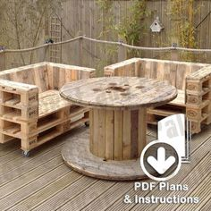 Make a Pallet Sofa from Instruction Plans. Modern Industrial / Loft Style Pallet Chair or Love Seat Idea for Home, Office or Outdoors Pallet Garden Furniture, Pallet Chair, Outdoor Furniture Sets, Outdoor Decor, Pallet Furniture Ideas Living Room, Pallet Benches, Pallet Tables, Outdoor Pallet, Pallet Shelves