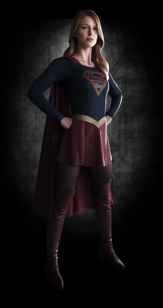 """Mr. Berlanti? I'm ready for my closeup!"" This is Melissa Benoist as CBS' ""Supergirl."" The costuming is as subdued as that for Berlanti's ""Flash"" and ""Arrow"" (Greg hires a pro: Colleen Atwood, ""Chicago""). The pilot written by Berlanti and Kreisberg with Ali Adler."
