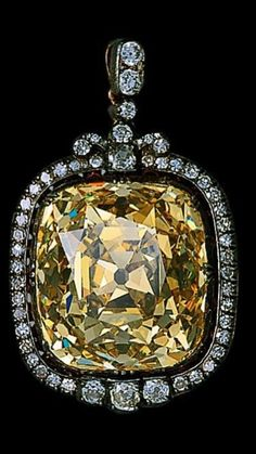 --THE ASHBERG DIAMOND-- A magnificent golden, antique cushion brilliant of 102.48-carats. Once part of the Russian Crown Jewels. The stone was eventually sold by the Russian Trade Delegation to Mr. Ashberg, a banker from Stockholm. https://www.instagram.com/p/BRmQM2JhmxT/?taken-by=frenchbluediamond&hl=en
