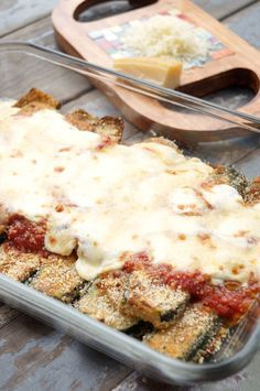 Zucchini Parmesan, a great meatless meal that is easy and delicious! Paired with pasta, you won't even miss the meat!