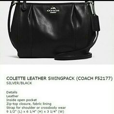Coach Purse COACH LEATHER BLACK Coach Bags