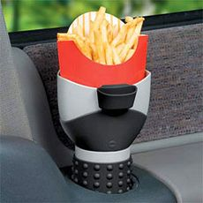OMG, I need this!  Nothing worse than your fries going all over the place when your eating and driving!
