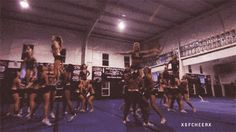 Your favorite part of practice was learning new, advanced stunts.