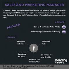 Selecionamos um Sales and Marketing Manager para Angola