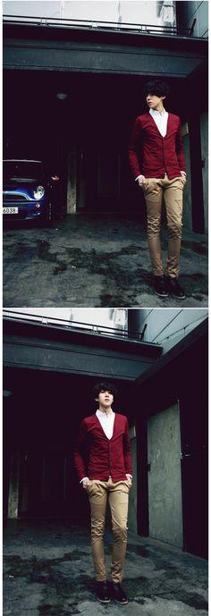 Check Coloration Cardigan - kstargoods.com #Kpop #Fashion #Men