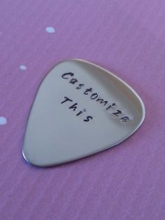 Personalized Guitar Pick, Customize it anyway you want, Hand Stamped, Music, Men, Gift for Him, Birthday on Etsy, $18.50