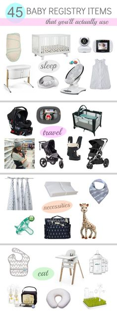 A comprehensive baby registry list. Everything you need for your baby!