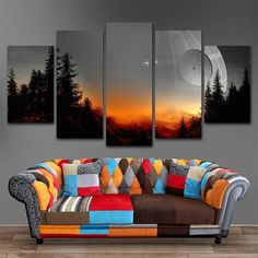 Canvas art star wars prequel plot painting canvas print room decoration print poster picture canvas-With frame