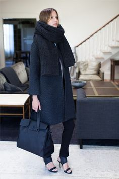Love this look, but if you are this bundled up, are you really wearing shoes like this?