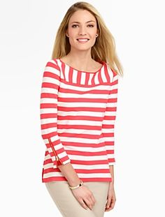 Talbots - Mixed-Stripe Top | Tees and Knits | Misses