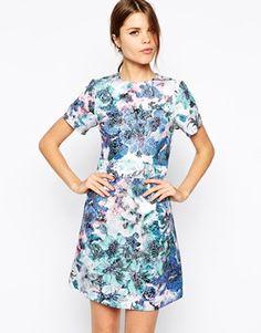Image 1 ofWarehouse Printed Jacquard Shift Dress, $142