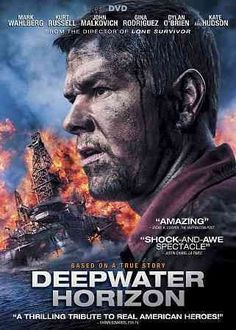 DEEPWATER HORIZON (DVD Release Date: 1/10/17) Starring: Mark Wahlberg, Peter Berg, Kurt Russell, Douglas M. Griffin, Kate Hudson, Dylan O'Brien -- For the 126 aboard the Deepwater Horizon offshore oil rig, April 20, 2010, began like any normal day. Before day's end, the world would bear witness to one of the greatest man-made disasters in US history. It reveals the brave acts of the men & women who rose to the challenge & risked everything to lead others to safety.