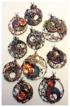 Gayle Bird's home is wire work, but she incorporates plenty of other mediums (including polymer clay) into her whimsical, intricate works, as seen on The Polymer Arts blog, http://www.thepolymerarts.com/blog/9433