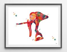 Ossicles Watercolor Print Audiology Poster vestibular system