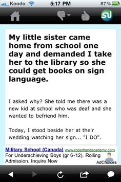✿ sign language... ✿ this is just too flippin cute!!!! :D