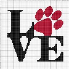 Buy 2 Get 1 Free Love Animals Love Cat A - Diy Crafts - hadido Modern Cross Stitch Patterns, Counted Cross Stitch Patterns, Cross Stitch Charts, Cross Stitch Designs, Embroidery Stitches, Embroidery Patterns, Hand Embroidery, Beading Patterns, Crochet Patterns
