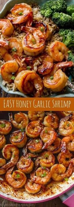 QUICK & HEALTHY DINNER: 20 MINUTE HONEY GARLIC SHRIMP