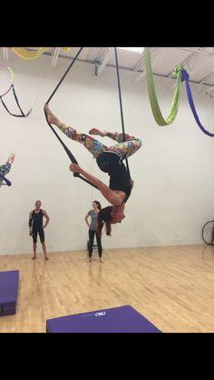 """""""Upside down gazelle"""" from trapeze"""