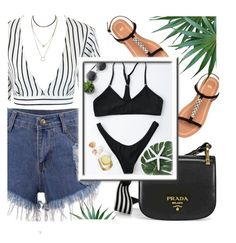 """""""Summer Look"""" by monmondefou ❤ liked on Polyvore featuring Prada"""