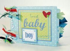 Baby Boy Scrapbook Mini Album Premade Sweet by ScrapbookGallery, $27.00