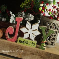 Joy to the World Letters | Wood letters | Christmas crafts | Winter wood shapes