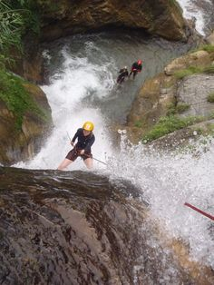 Canyoning in Nepal at Jalberi Canyon. This site is located just 3 hours from Kathmandu and has got everything you could possible ask for from a canyoning site