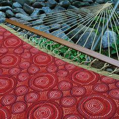 Algoma Nylon Rope Brown Red Hammock