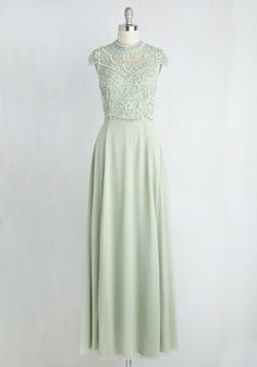 Sequins of Events Maxi Dress. It all started with this mint green gown. #green #modcloth