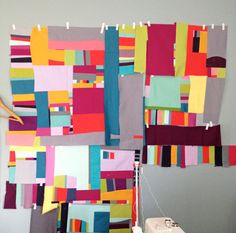 I love the colorway and the free-spirited piecing here---from filminthefridge.com (found via daintytime.net)