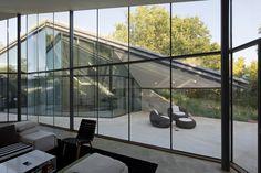 modern interieur met vliesgevel