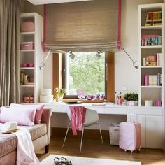 modern kids furniture for studying area in teenage bedroom and kids room